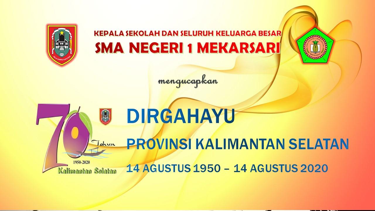 Dirgahayu Provinsi Kalimantan Selatan ke-70